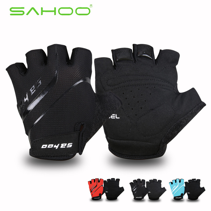 SAHOO Summer Glide Style Cycling font b Gloves b font Half Finger Shockproof MTB Road Bike