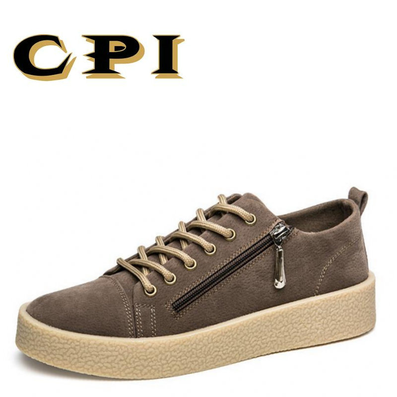 CPI sneakers Fashion design All-match Men's casual leather shoes Breathable Comfortable British Style men shoes CC-127 z suo fashion winter men shoes genuine leather boots breathable comfortable british style men s casual martin shoes