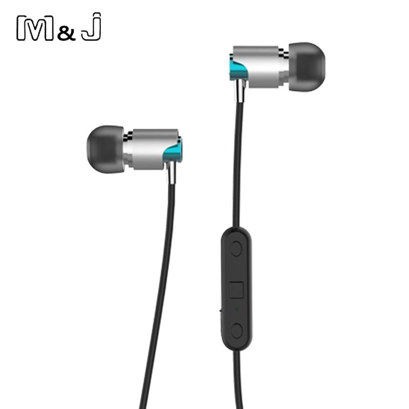 M & J Sport Bluetooth sluchátka Sweatproof bezdrátové sluchátka s mikrofonem stereo sluchátko pro sportovní běh