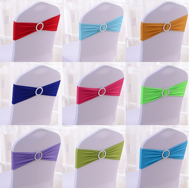 15x35cm Wedding Banquet Chair Spandex Cover Sash Bands Party Birthday Decoration