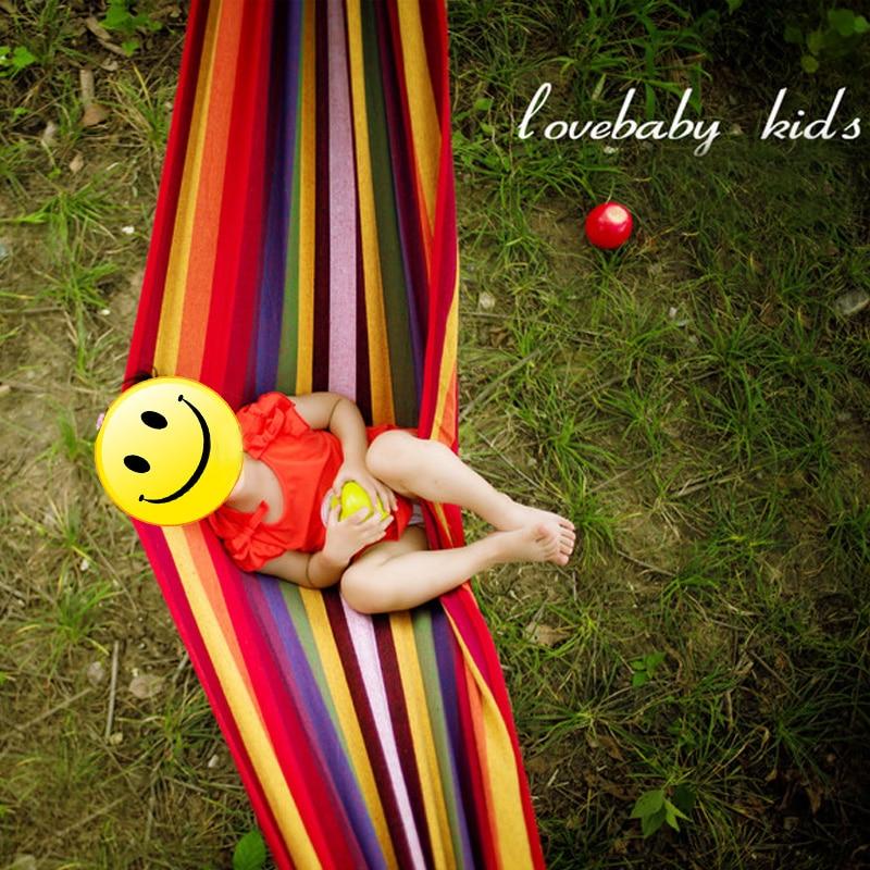 METIEM NEW Sigle 200x100 garden swings outdoor camping hammock indoor hanging chair bed portable rope for children