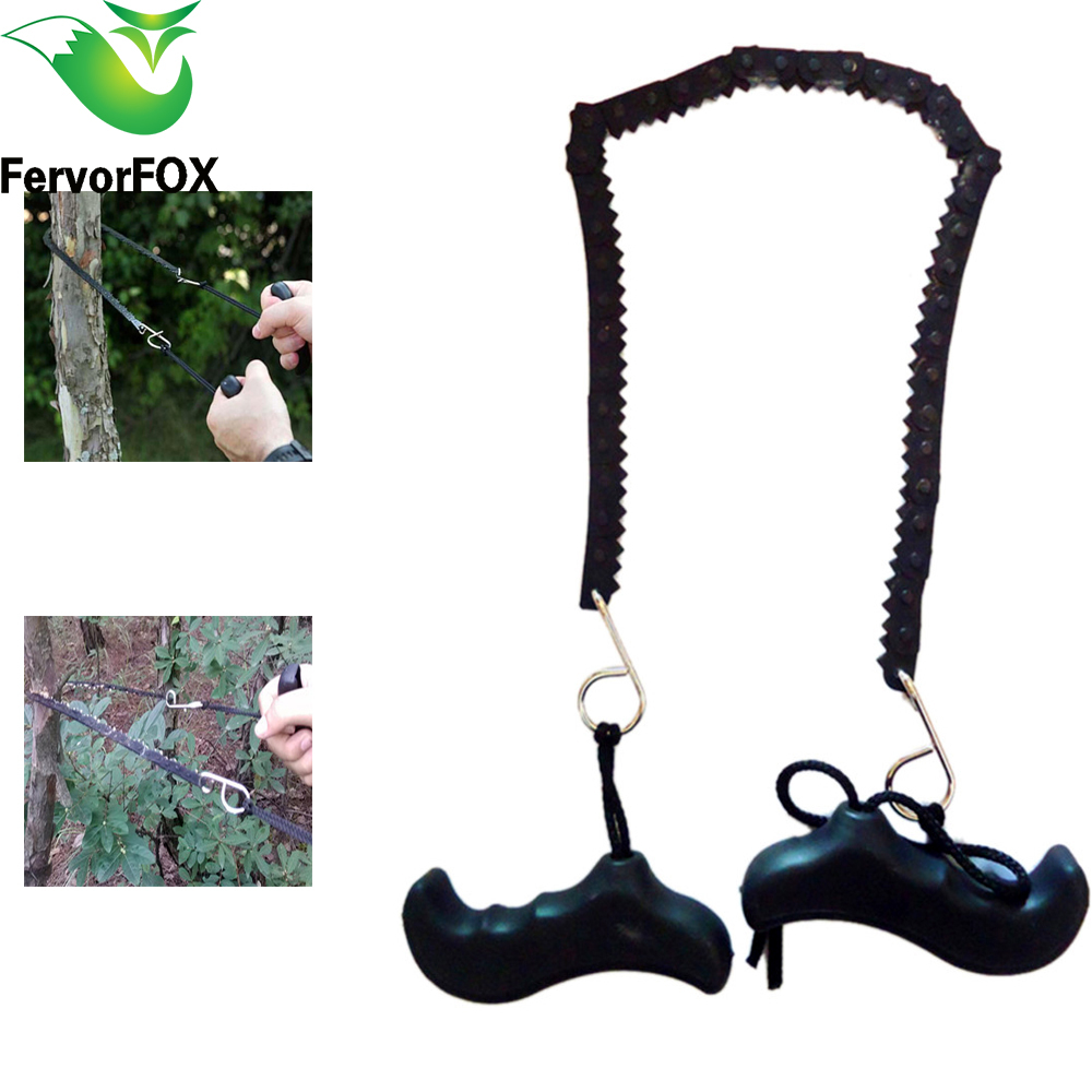 کمپینگ پیاده روی اضطراری Survival Hand Hand Tool Gear Pocket Chain Saw ChainSaw Camping Saw