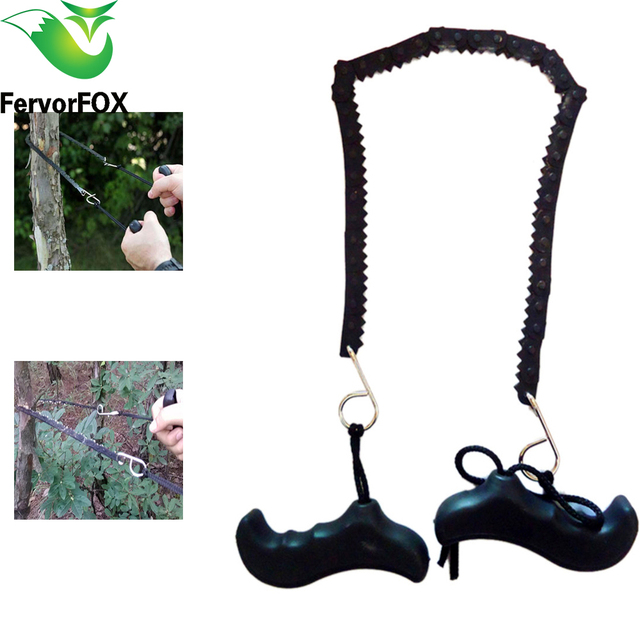 Camping Hiking Emergency Survival Hand Tool Gear Pocket Chain Saw ChainSaw Camping Saws