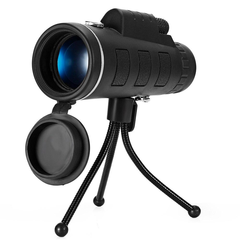 Outlife Mini 40X60 telescopio Monocular HD Visión Nocturna Monocular al aire libre Camping caza senderismo ámbitos con Clip de teléfono de trípode