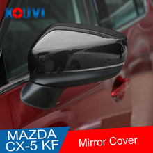 KOUVI ABS Chrome Side Rearview Mirror Cover Sticker Molding Garnish Accessories For 2017 2018 Mazda CX-5 CX5 CX 5 Car styling fit for mazda cx5 cx 5 kf series 2017 2018 side door body molding trim cover line garnish sticker accessories 4pcs set