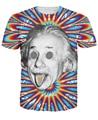 Mujeres/Hombres Trippy Ácido Albert Einstein Teoría T-shirt Camiseta 3d colorido de impresión psicodélica camiseta del verano remata camisetas