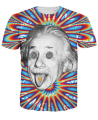 Women/Men Trippy Acid Theory T-Shirt 3d t shirt colorful psychedelic print Albert Einstein summer t-shirt tops tees