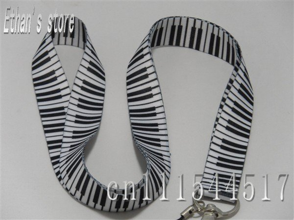 Free shipping Brand New piano keyboard lanyards fingerboard necklace for ID,key,MP3/4/5