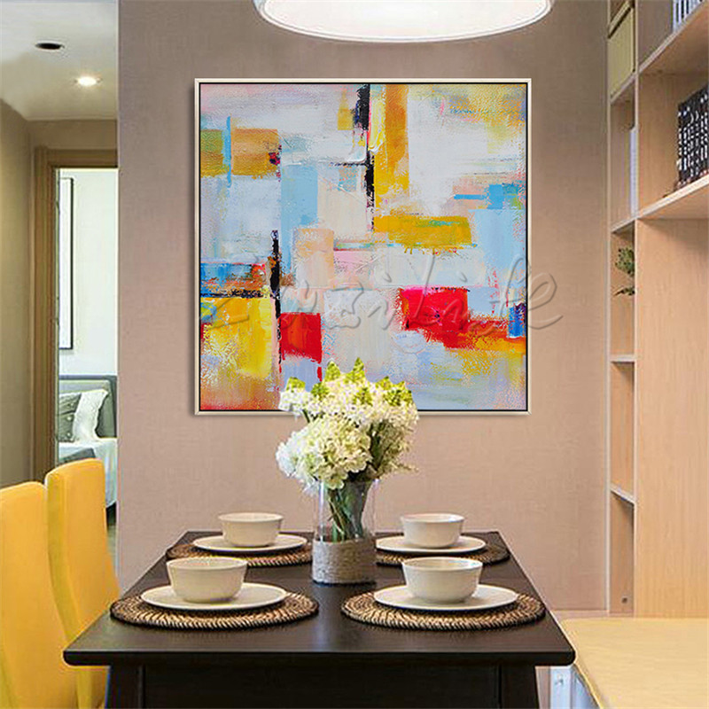 Cheap Art Decor: Hand Painted Canvas Oil Paintings Cheap Large Modern