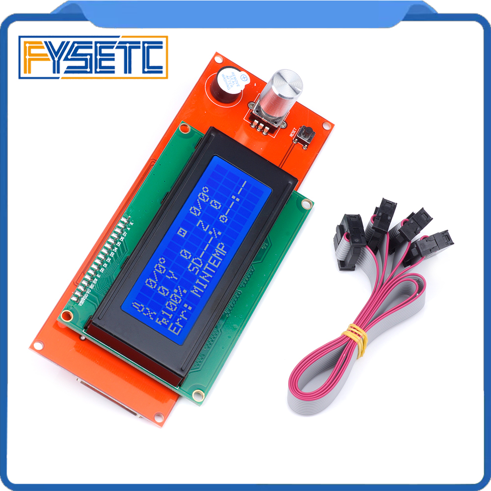 2004 LCD Display 3D Printer Controller With Adapter RAMPS 1.4 Reprap Mendel (20 characters x 4 lines) For Anet A8 Free Shipping цена 2017