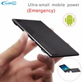 Yfw ultra delgado banco de la energía 1350 mah tarjeta de crédito de bolsillo portátil construido en micro usb cable del cargador de reserva para el teléfono android