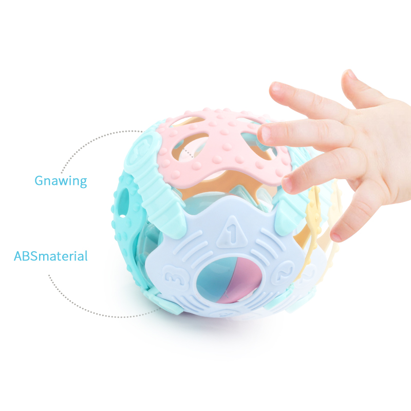 Baby hand grip silicone rattle ball toy baby teether hand grab rattle baby soft rubber baby puzzleBaby hand grip silicone rattle ball toy baby teether hand grab rattle baby soft rubber baby puzzle
