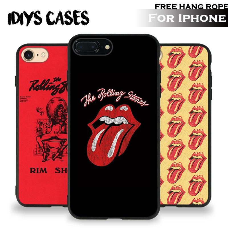 Afbeeldingsresultaat voor De Rolling Stones Classic Band Gratis Hang Touw Tpu Zachte Siliconen Telefoon Case Cover Shell Tas Voor Apple iPhone 5 SE 5 S 6 6 S 7 PLUS