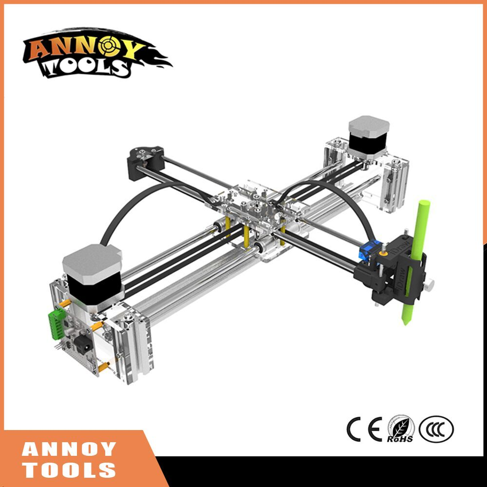 New XY Drawing 210x297mm masters lettering robot XY-plotter drawing robot kit X Y axis writing robot support laser module xy 205t