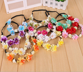 11 Colors 2016 Bride Bohemian Flower Headband Festival Wedding Floral Garland Hair Band Headwear Hair Accessories for Women