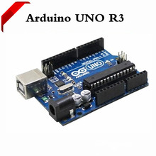 The latest version of the UNO R3 Arduino development board official version of the ATmega16U2 to send USB line 1