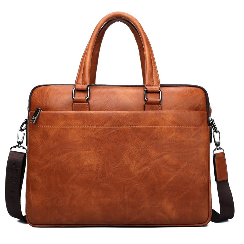 JEEP BULUO Célèbre Marque 2 pcs Ensemble Hommes Porte-Documents Sacs Hanbags Pour Hommes D'affaires de Mode Sac de Messager 13.3» sac d'ordinateur portable 8001/8888 - 2