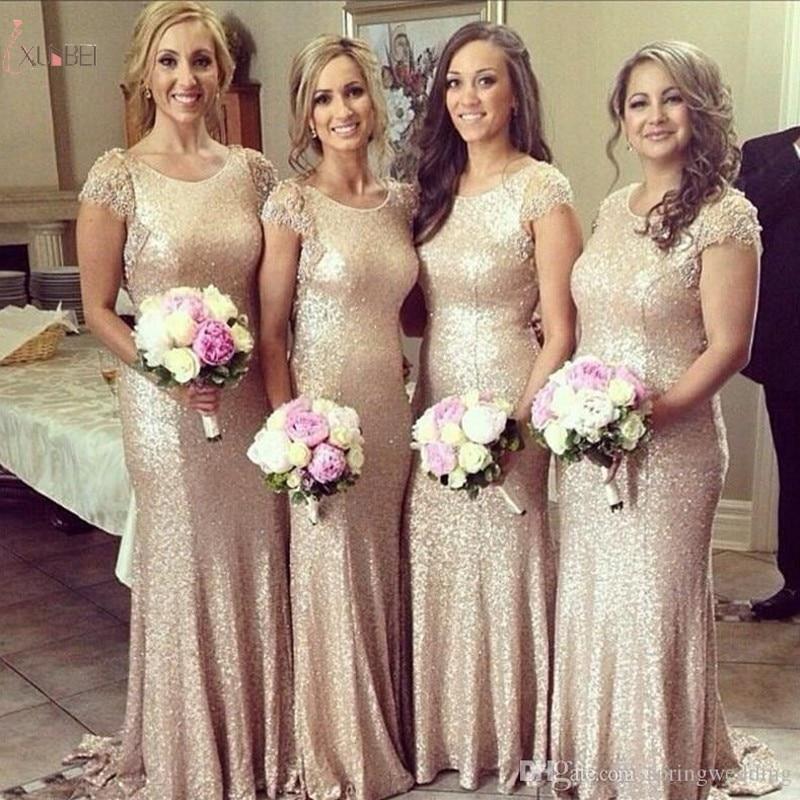 2019 Elegant Burgundy Navy Blue Sequin Long Mermaid   Bridesmaid     Dresses   Plus Size Wedding Party Guest   Dress   vestido madrinha