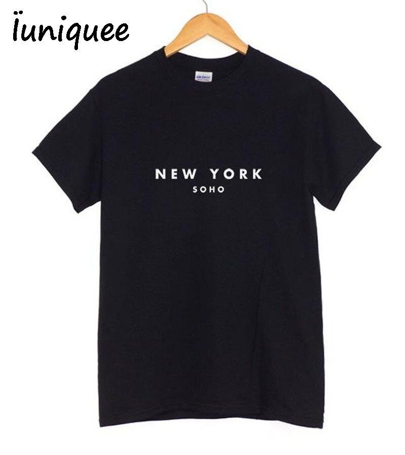 2017 Rock Mode T Shirt Frauen NEW YORK Gedruckt Druck T-shirt Frauen Sommer Band Neue Top T Shirt Femme Frauen sakura Kleidung