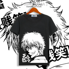 New Gintama Silver Soul Funny Face T-shirt Cosplay Anime Men Women Cotton T Shirt Multicolor