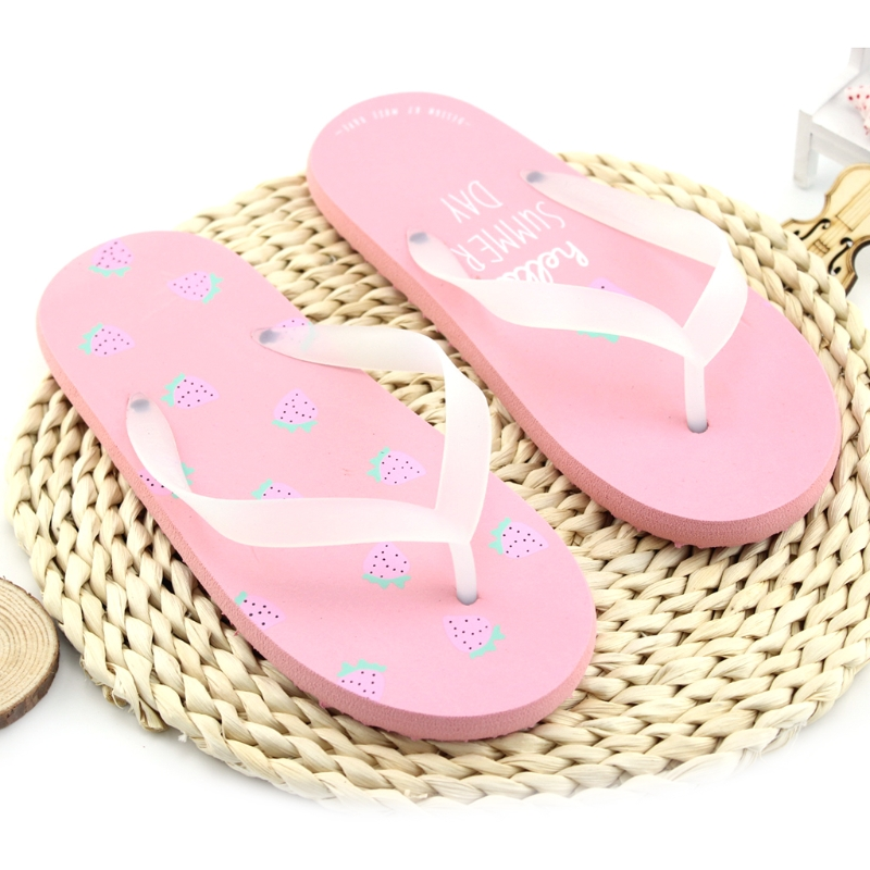 2d08751bbb95 9325 Women Beach Flip Flops Fruit 2018 Summer Fashion Slippers Ladies House  Shoes Woman Home Flat Sandals-in Flip Flops from Shoes on Aliexpress.com ...