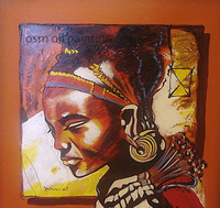 Top Hand painted African Painting by Number Oil Painting on Canvas Handmade Wall Art Painting Hang Pictures Craft for Home Decor