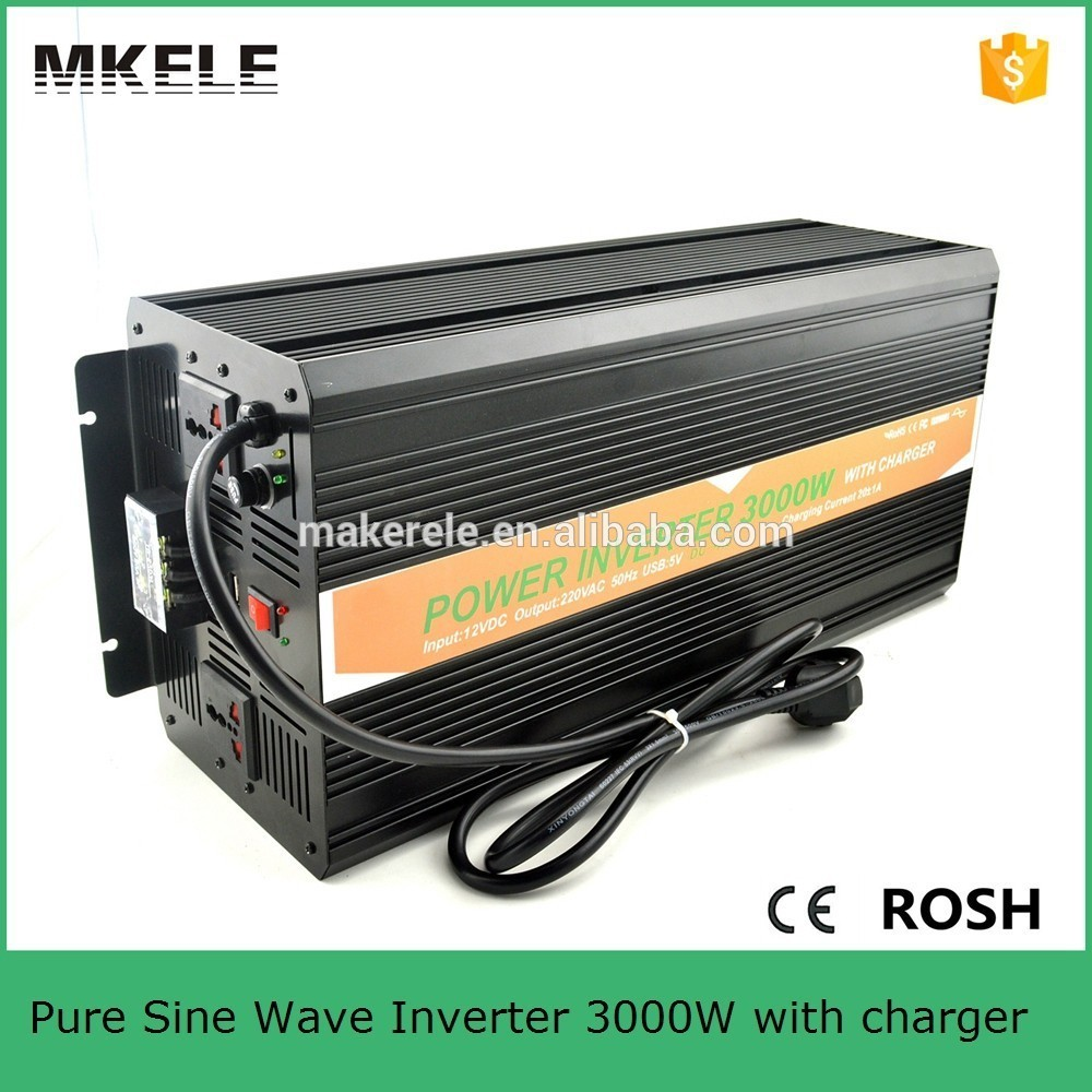 MKP3000-122B-C high efficiency off grid pure sine wave inverter 3000w 12v 220v pure sine wave inverter with charger full power 600w off grid pure sine wave inverter dc12v input 110v output soft start high conversion efficiency with usb 5v 500ma