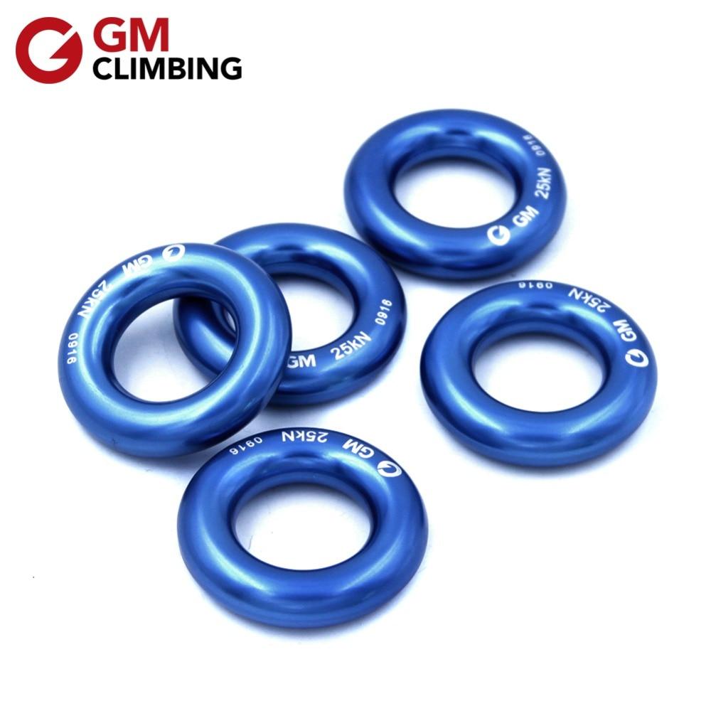 GM CLIMBING Rappel Ring 25kN Liten Aluminium Bail-Outs Rigging Descender Ring för Rock Climbing Arborist Hammock Spänningssystem