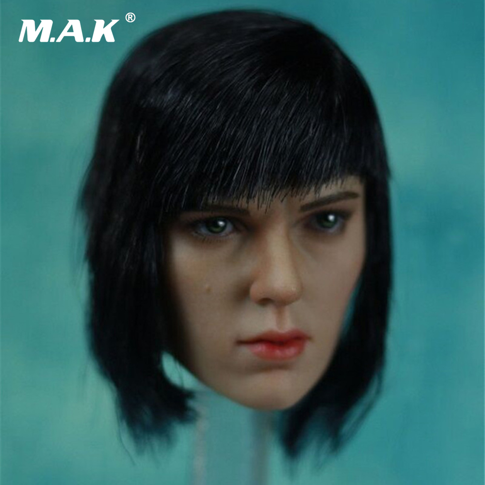 1/6 Scale Ghost in the Shell Kusanagi Motoko Head Sculpt Scarlett Headplay Collection Model Toy laying the ghost