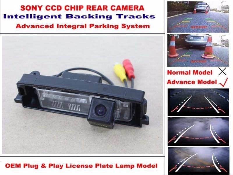 Car Intelligent Parking Tracks Camera  HD Back up Reverse Camera  Rear View Camera For TOYOTA Vanguard For TOYOTA RAV4 RAV-4 (3)