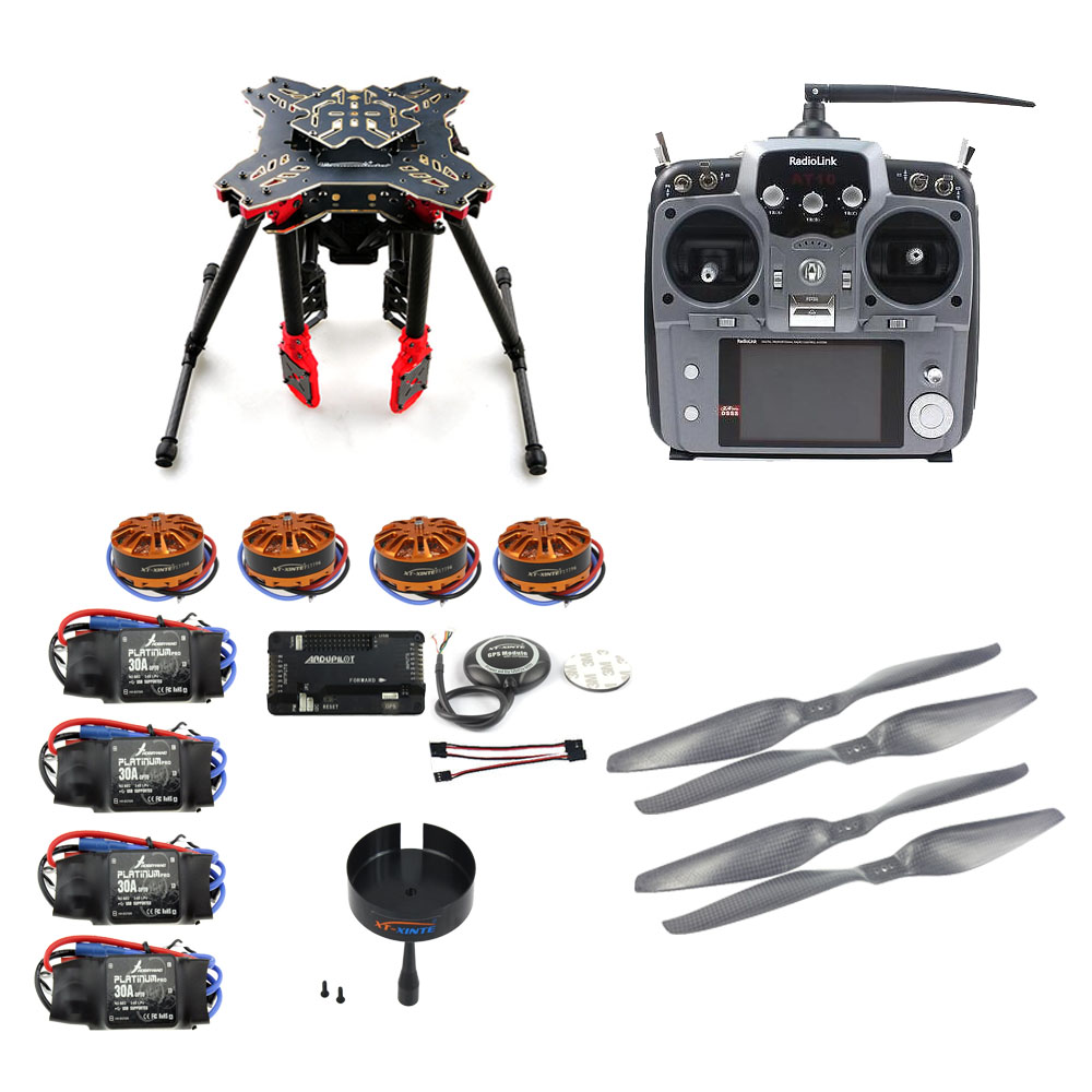 JMT DIY GPS Drone RC Quadcopter HMF U580 Totem Series APM2.8 Flight Control 700KV Motor 30A ESC Radiolink AT10 TX&RX No Battery rc quadcopter ufo 4axle kit hobbywing 10a esc 2400kv brushless motor straight pin flight control opensource f04024 a