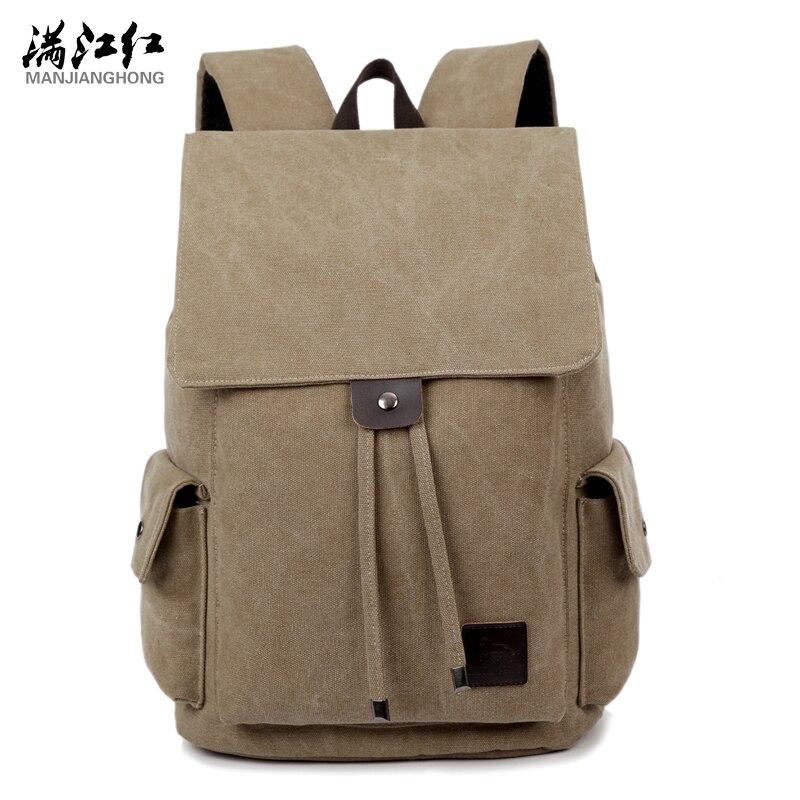 Manjianghong Canvas Man Bag Backpack Mochila Bag Chinese Men s Backpack Bag Simple Leisure School Bag