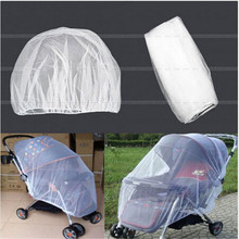 1Pcs White Infants Baby font b Stroller b font Pushchair Mosquito Insect Net Safe Mesh Buggy