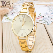 Fashion Luxury women Quartz watch Casual MEN Women Lady Couple Watches with Stainless Steel gold clock  relogio feminino