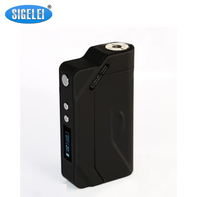 Genuine Sigelei 150W TC Box Mod Electronic Cigarettes Battery Sigelei 150W Temp Control Mods 18650 Mod Black sigelei 150w vv vw 150watts mod 18650 vape kanger subtank aspire sigelei 150w box mod