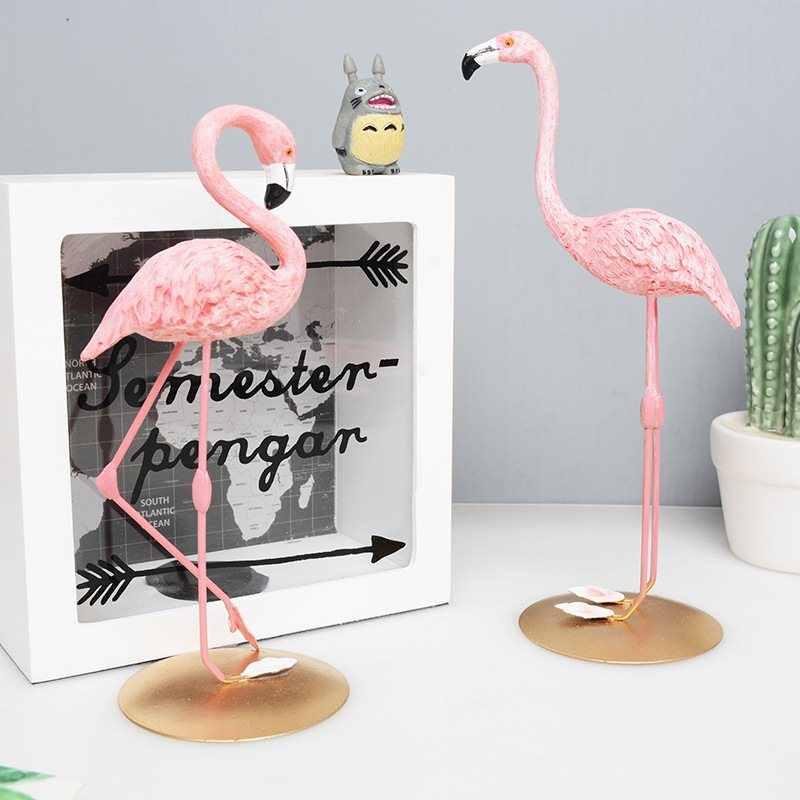 Розовый фламинго 3 стиля Статуэтка украшение Смола Европейский стиль двора сада и гостиной сада двора Декор статуя животного