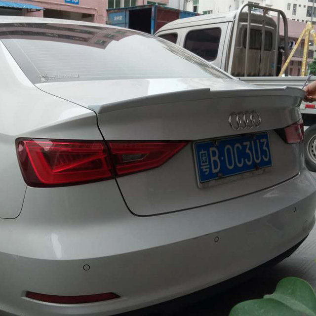 Us 52 26 20 Off V Style A3 S3 S Line Frp Rear Trunk Spoiler Wing For Audi A3 S3 Sline Sedan 2014 2016 In Spoilers Wings From Automobiles