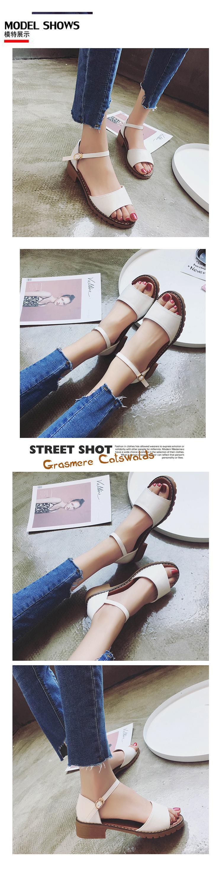 Sweet Summer Platform Sandal 2018 Buckle Strap Open Toe Women Sandals Square Heel Designer Shoes 9