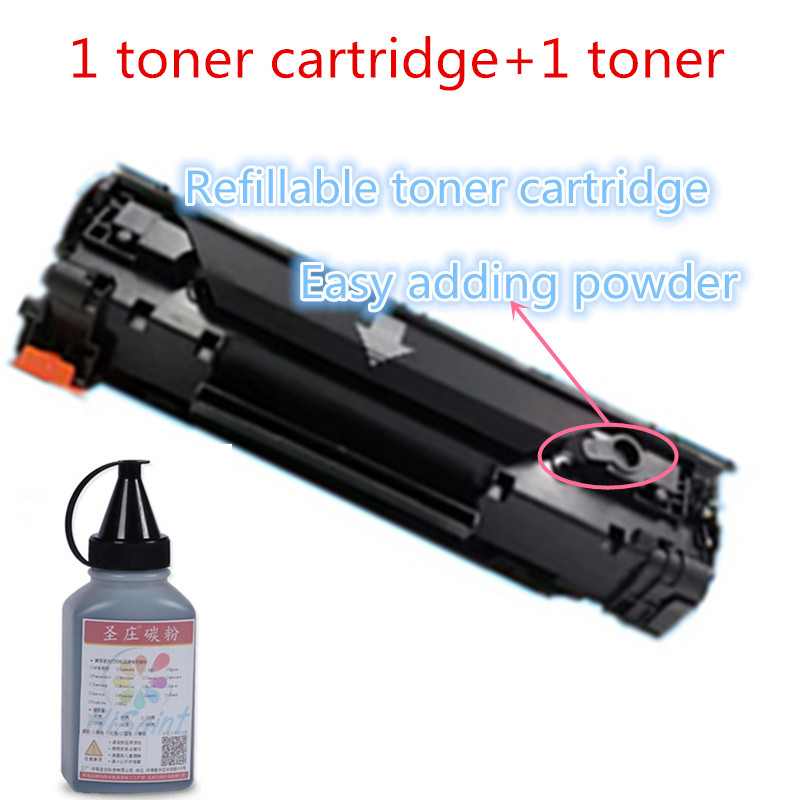 hisaint For HP 285A CE285A easy adding powder toner cartridge and powder for HP Pro P1102 M1130 laser printer Free shipping free dhl mail shipping 305x toner cartridge triple test 305x toner cartridge for hp toner printer