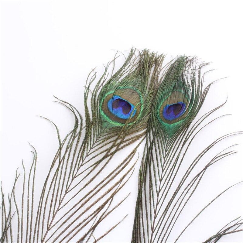 A granel 10 unids/lote hermosa pluma del Pavo Real ojos azules ...