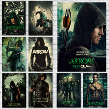 Green Arrow Posters Movie Prints Home Wall Vintage Decoration home art Brand MO61(China)