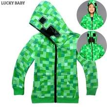 Bobo choses/весенне-осенняя модная верхняя одежда с изображением майнкрафт, детская одежда, свитшоты, футболки с короткими рукавами для маленьких мальчиков и девочек