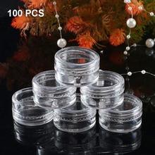 100 шт 5 мл прозрачные пластиковые баночки косметические емкости для образцов мини-бутылки FM88