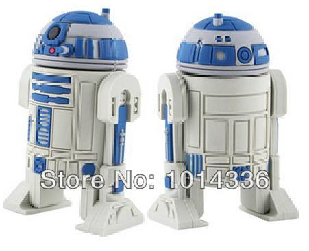 USB flash pen drive Star Wars Series R2D2 Robot Memory Card Stick 4g 8g 16g 32g 64g Thumb/Car key/Pendrive U Disk/creative Gift
