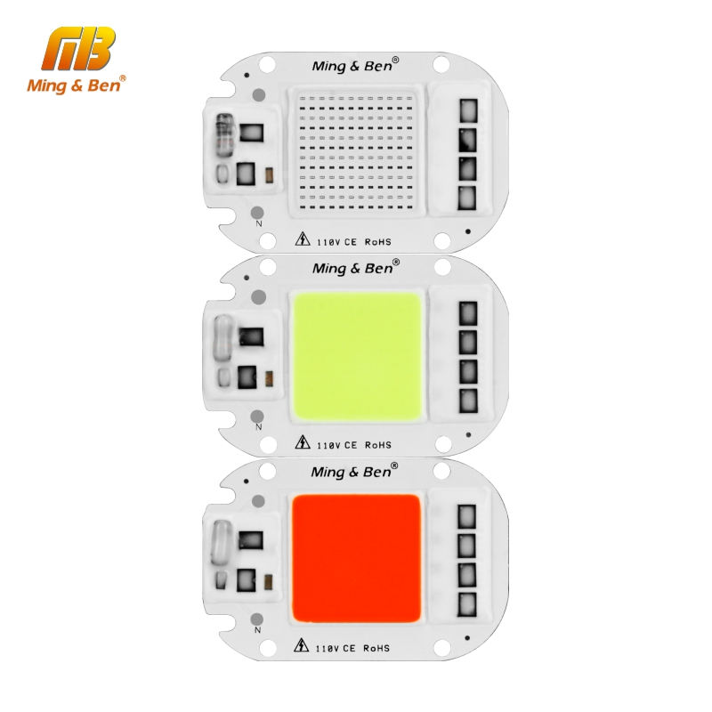 LED RGB COB Chip 30W AC220V Smart IC DIY For LED Floodlight Spotlight Decoration Red Green Blue Yellow Warm Day White Grow Light
