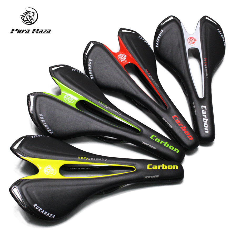 2017 New Bicycle Saddle Super Light Carbon Fiber with Leather Cycling Saddle Comfortable Road Bike Saddle Ultralight Seat Mat miracle bikes 2017 free shipping 3k cycling bicycle saddle mtb road bike carbon rail saddle seat 116g carbon saddle