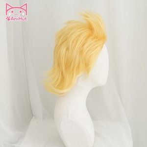 Image 3 - Аниме My Hero Academia Mirio Toogata Million, парик для косплея Boku No Hero Academia, большой 3 желтый парик Mirio Toogata