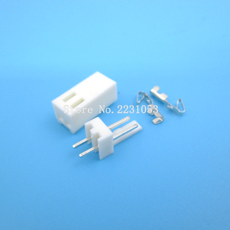 20 Sets KF2510-2P KF2510 2 Pin 2.54mm Pitch Terminal / Housing / Pin Header Connector Adaptor 1000pcs dupont jumper wire cable housing female pin contor terminal 2 54mm new