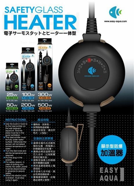 Chauffage Submersible pour Aquarium, Thermostat de température réglable, Mini, 25W 50W 100W 200W 300W 500W W