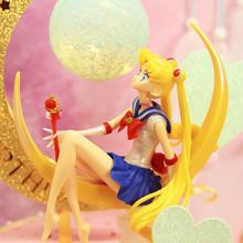 Cartoon Sailor Moon Tsukino Usagi PVC kolekcja figurek zabawkowy model Doll narzędzie do dekoracji ciast dziewczyna prezenty na urodziny tanie tanio 1 12 14cm Jeden rozmiar 6 lat Dorośli 14 lat 8 lat Wyroby gotowe Choking Hazard-Small parts Not suitable for children under 3 years